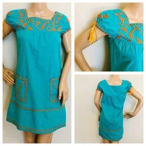 Joy joy cotton mini tassel dress size xs